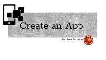 Create an App for AREA (1)