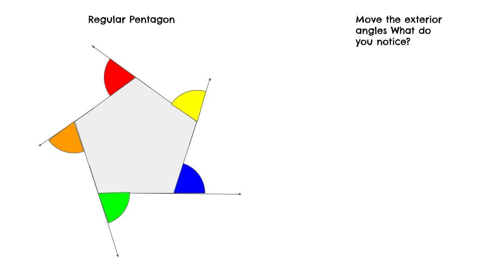 Sum of Exterior Angles Drag & Drop
